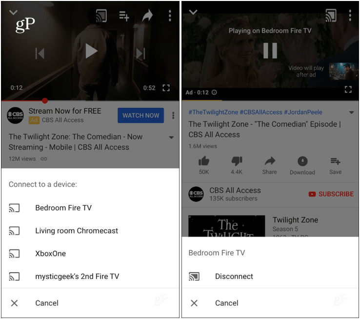 Cast YouTube iPhone to Fire TV