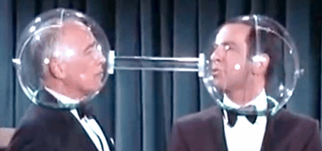 Cone of silence from the show Get Smart