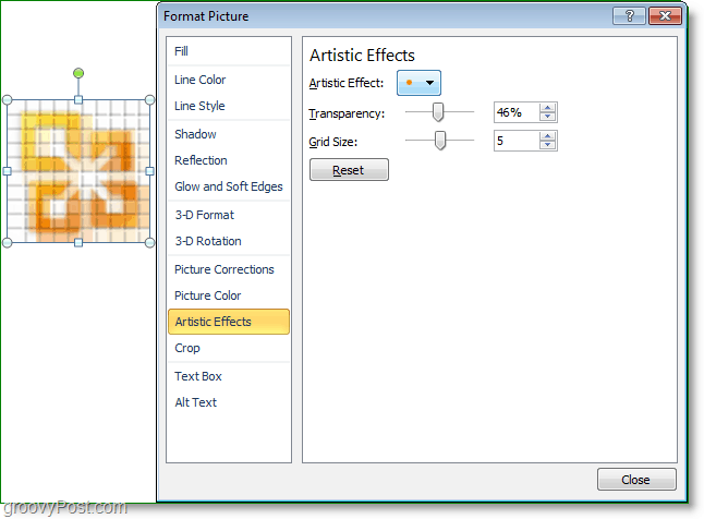 customize your visual effects in word 2010