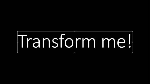 Cheat Photoshop Text Layer Transformations Trick transform me text bounds photoshop traditional