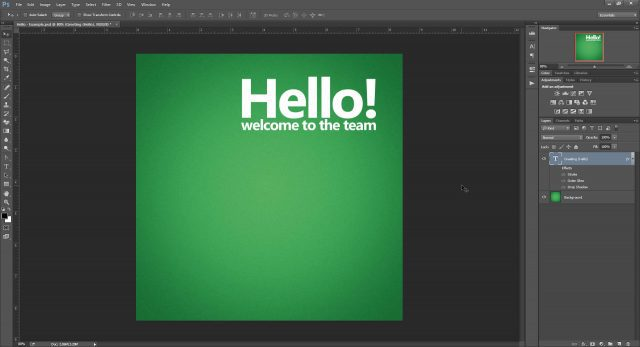 Cheat Photoshop Text Layer Transformations Trick text sample example scenario center text lines