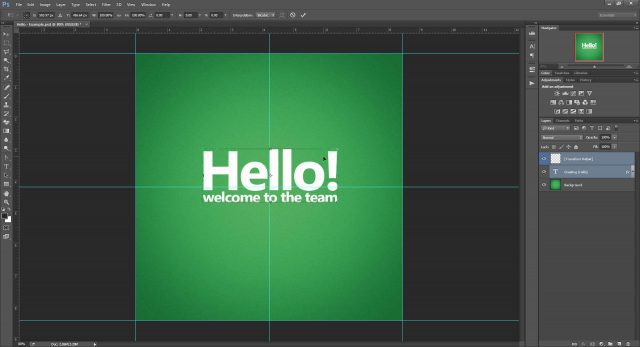 Cheat Photoshop Text Layer Transformations Trick center text layer accuracy Photoshop