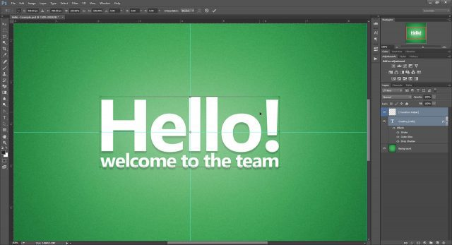 Cheat Photoshop Text Layer Transformations Trick perfect bounding box Photoshop text transform cheat