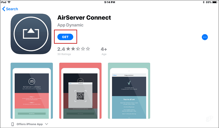Install AirServer Connect iOS