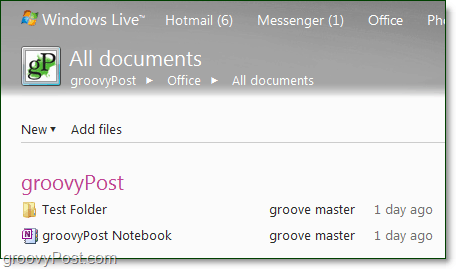 create documents or add them to live office groups