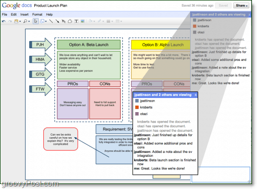 google docs has real time collaboration, office online needs it