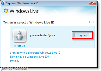 sign in to bing bar using your windows live ID