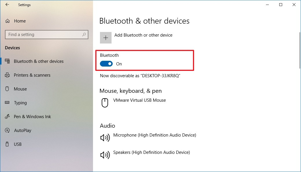 Cómo activar el Bluetooth en Windows 10